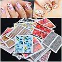 tanie Makijaż i pielęgnacja paznokci-50 pcs Kwiat / Modny Biżuteria do paznokci / Naklejki 3D na paznokcie Codzienny / PVC