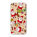 hesapli iPhone Kılıfları-Pouzdro Uyumluluk Apple iPhone X iPhone 8 Plus iPhone 5 Kılıf iPhone 6 iPhone 7 Yarı Saydam Temalı Arka Kapak Noel Yumuşak TPU için