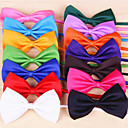 abordables Vêtements & Accessoires pour Chien-Chat Chien Cravate/Noeud Papillon Vêtements pour Chien Nœud papillon Rouge Rose Rouge Vert Rose Bleu clair Térylène Costume Pour les