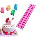 ieftine Ustensile de Fructe & Legume-3d litere englezești silicon mucegai pentru copii diy clădire bloc fondant tort ciocolată