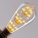 abordables Lampes à Filament LED-1pc 3W 300lm E26 / E27 Ampoules à Filament LED ST64 47 Perles LED LED Intégrée Intensité Réglable Étoilé Décorative Blanc Chaud 220-240V