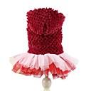 preiswerte Bekleidung & Accessoires für Hunde-Hund Kapuzenshirts Kleider Hundekleidung Solide Purpur Rot Polar-Fleece Kostüm Für Haustiere Damen Niedlich Geburtstag warm halten