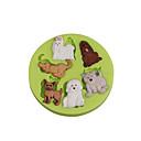 preiswerte Bekleidung & Accessoires für Hunde-Backwerkzeuge Silikon Umweltfreundlich / Heimwerken Kuchen / Plätzchen / Obstkuchen Cartoon Shaped Backform 1pc
