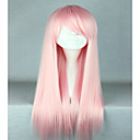 cheap Decoration Stickers-high quality costume hair synthetic light pink cosplay wig 70cm long straight lolita wig Halloween