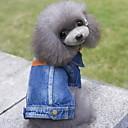 Недорогие Одежда и аксессуары для собак-Собака Джинсовые куртки Одежда для собак Джинсы Синий Джинса Костюм Для домашних животных Муж. Жен. Очаровательный ковбой Мода