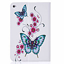 cheap iPad  Cases / Covers-Case For Apple Card Holder / with Stand / Flip Full Body Cases Butterfly Hard PU Leather for iPad Mini 3/2/1 / iPad Mini 4 / Apple