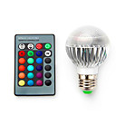 cheap LED Corn Lights-1pc 3.5 W 220 lm E14 / B22 / E26 / E27 LED Smart Bulbs 1 LED Beads High Power LED Dimmable / Remote-Controlled / Decorative RGB 85-265 V / 1 pc / RoHS