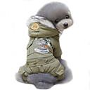 hesapli Köpek Giyim ve Aksesuarları-Köpek Paltolar Kapüşonlu Giyecekler Köpek Giyimi Polis/Ordu Avcı Yeşili Haki Pamuk Kostüm Evcil hayvanlar için Erkek Kadın's Cosplay