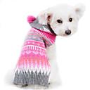 baratos Coleiras, Peitorais e Guias para Cães-Cachorro Súeters Roupas para Cães Riscas De Lã Ocasiões Especiais Para animais de estimação Homens Mulheres Fofo Mantenha Quente