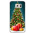 tanie Kolczyki-Kılıf Na Samsung Galaxy S7 edge / S7 Półprzezroczyste / Wzór Czarne etui Święta Bożego Narodzenia Miękkie TPU na S7 edge plus / S7 edge / S7