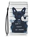 economico Custodie / cover per Galaxy serie S-Custodia Per Samsung Galaxy S7 edge / S7 A portafoglio / Porta-carte di credito / Con supporto Integrale Con cagnolino Resistente pelle sintetica per S7 edge / S7 / S6