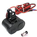 preiswerte LED-Leuchtröhren-Motorrad wasserdichte GPS-1.5a USB-Anschluss Leistung Ladegerät Zigarettenanzünder