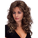 cheap Makeup & Nail Care-Synthetic Wig Body Wave Style With Bangs Capless Wig Dark Brown Dark Brown Synthetic Hair Women's Heat Resistant / Fluffy Dark Brown Wig Medium Length Natural Wigs