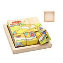 cheap Jigsaw Puzzles-Jigsaw Puzzles Building Blocks DIY Toys Square 9 Wood Rainbow