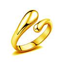ieftine Coliere-Pentru femei Inel inel de înfășurare Placat Auriu Picătură Inele la Modă Bijuterii Argintiu / Auriu Pentru Nuntă Petrecere Zilnic Casual O Mărime