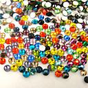 hesapli Makyaj ve Tırnak Bakımı-1000 pcs Nail Art Takımı Yapay Elmaslar tırnak sanatı Manikür pedikür Günlük pırıltılar / Moda