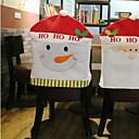hesapli Ev Dekorasyonu-Sandalye Kılıfı Tatil İlham Verici Noel Karikatür Karton Noel Parti Noel Dekorasyon