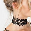 olcso Divat nyaklánc-Női Rövid nyakláncok Nyilatkozat nyakláncok Tattoo Choker Csipke Nyilatkozat hölgyek Tetoválás Divat Fehér Fekete Nyakláncok Ékszerek Kompatibilitás Karácsonyi ajándékok Parti Születésnap Napi