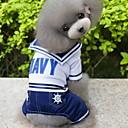 hesapli Pet Noel Kostümleri-Köpek Kostümler Tulumlar Köpek Giyimi Denizci Koyu Mavi Pamuk Kostüm Evcil hayvanlar için Erkek Cosplay Moda