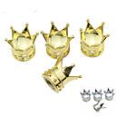 ieftine Decorațiuni-anvelopă masina de lux Imperial coroana cupru supape decorare capac (4 bucăți pe pachet)