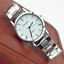 baratos Relógios Femininos-Casal Relógio de Pulso Venda imperdível Aço Inoxidável Banda Casual / Fashion Branco