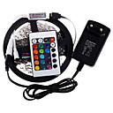 cheap Xbox 360 Accessories-RGB LED Strip 5M 300 3528SMD Flexible Light LED Tape Party Decoration Lamps DC12V 3A Power Adapter IR Remote Controller