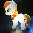 ieftine Lumini Nocturne LED-1pc colorat decolorare ponei drăguț a condus luminile de noapte mici de copii cadou de vacanță jucărie