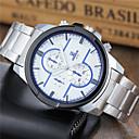 ieftine Ceasuri Bărbați-Bărbați Ceas Sport Ceas de Mână Quartz Oțel inoxidabil Alb Ceas Casual Analog Clasic Casual Modă Ceas Elegant - Alb Negru