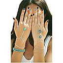 ieftine Brățări-Pentru femei Turcoaz Brățări cu Talismane Ring Bracelets Sclavii de aur femei Design Unic Modă Turcoaz Bijuterii brățară Argintiu / Bronz / Auriu Pentru Petrecere Zilnic Casual Costume Cosplay