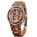 preiswerte Ohrringe-Paar Armbanduhr Kalender Holz Band Luxus / Modisch / Holz Rot / Zwei jahr / Sony SR626SW