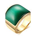 billige Herreure-Herre Statement Ring Ring Signet Ring Titanium Stål Mode Moderinge Smykker Kaffe / Grøn Til Daglig Afslappet 8 / 9 / 10 / 11