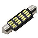 hesapli Çalışma Aydınlatmaları-SO.K Ampul 3 W SMD 4014 LED Okuma Işığı / Plaka Işığı / Muayene lambası