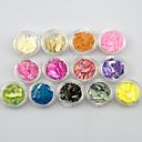 ieftine Machiaj & Îngrijire Unghii-12bottles/set Unghiul de bijuterii / Paiete Elegant & Luxos / Strălucitor & Sclipitor Lux / Design Modern / Paiete Zilnic Nail Art Design