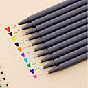 preiswerte Zubehör zum Zeichnen und Schreiben-Gel Stift Stift Wasserfarbstife Stift, Kunststoff Rot / Schwarz / Blau Tintenfarben Für Schulzubehör Bürobedarf Packung