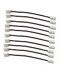hesapli Konnektörler-10 adet / paket şerit tel ile lehimsiz şerit aşağı 2pin iletken için led şerit konektörü 8mm geniş 3528 2835 tek renk flex led şeritler 8mm