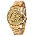 hesapli Banyo Gereçleri-Erkek Spor Saat Moda Saat Elbise Saat Otomatik kendi hareketli 30 m Alaşım Bant Analog İhtişam Günlük Çok-Renkli - Altın Gümüş