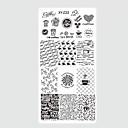hesapli Makyaj ve Tırnak Bakımı-10pcs/set Nail Art Aracı Tırnak Boyama Araçları Tırnak Damgalama Aracı şablon Modaya Uygun Takı tırnak sanatı Manikür pedikür Şık / Desenli / Yüksek kalite / damgalama Plaka