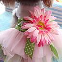 hesapli Köpek Giyim ve Aksesuarları-Kedi / Köpek Elbiseler Köpek Giyimi Çiçek Gökküşağı Pamuk Kostüm Evcil hayvanlar için Yaz Kadın's Moda