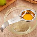 hesapli Mutfak Araçları-Paslanmaz çelik yumurta ayırıcı beyaz sarısı filtre yumurta bölücü mutfak gadget araçları