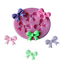 cheap Bakeware-3 Hole Bow Tie Silicone Cake Mold Fondant Chocolate Sugarcraft