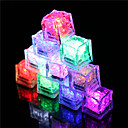 cheap Drawing & Writing Instruments-12Pcs Color Changing Ice Cubes Led Light Party Wedding Christmas Bar Restaurant