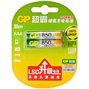 Недорогие Двухконтактные LED лампы-GP-gp85aaahc l2 металла батареи ааа никеля 1.2v 850mAh 2 шт