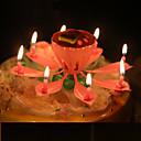 baratos Utensílios para Frutas & Legumes-musical lótus flores velas feliz aniversario vela para festa presente luzes decoração