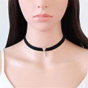 Buy Choker Necklaces Jewelry Alloy Flannelette Circle Dangling Style Punk Hip-Hop Simple Black Brown Birthday Daily Casual 1pc