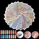 preiswerte Make-up & Nagelpflege-24pcs Stanze Maniküre Schablone Nagel Kunst Maniküre Pediküre Modisch Alltag
