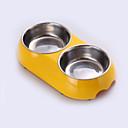 hesapli Makyaj ve Tırnak Bakımı-Kedi / Köpek Kaseler ve Su Şişeleri Evcil Hayvanlar Kaseler ve Besleme Su Geçirmez Sarı / Mavi / Pembe
