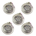 abordables LED à Double Broches-5pcs 3.5W 100lm E14 GU10 E27 Ampoule en croissance 6 Perles LED SMD 5730 Bleu Rouge 85-265V