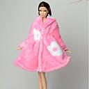رخيصةأون مشدات-دمية الملحقات دمية اللباس كاجوال إلى Barbie البوليستر القطبية ابتزاز معطف إلى لفتاة دمية لعبة