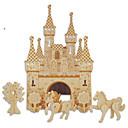preiswerte Santa Anzüge-Holzpuzzle Spielzeuge Burg Berühmte Gebäude Chinesische Architektur Haus Profi Level 1 Stücke