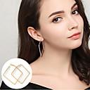 hesapli Küpeler-Kadın's Halka Küpeler - Temel, minimalist tarzı, İfade Altın / Gümüş Uyumluluk Parti / Günlük